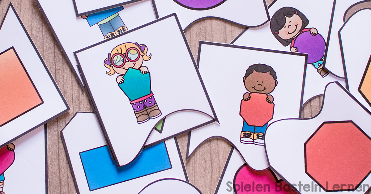Formen Zuordnungspuzzles Zum Ausdrucken Spielen Basteln Lernen